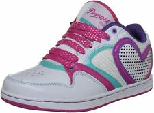 "PINEAPPLE DANCE SHOES GIRLS ""BEA"" TRAINERS lace up white/fuchsia Size 4 /37"
