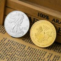 Statue of Liberty Commemorative Coins Non-currency Bitcoin Art Gift (Silver