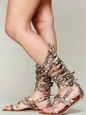 Free People Jeffrey Campbell Romana Fest Floral Boho Gladiator Sandals 6 Rare