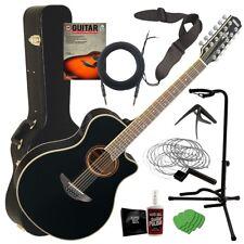Yamaha APX700II-12 Acoustic-Electric Guitar - Black COMPLETE GUITAR BUNDLE