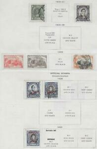 8 Chile Stamps w/Official from Quality Old Antique Album 1920-1928
