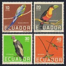 Ecuador 634-637,MNH.Michel 956-959. Birds 1958.Macaw,Toucan,Condor,Hummingbirds