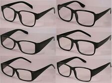 Reading Glasses [+1.00] 6 Pair Black Plastic Frame Unisex Wholesale Lot 1.00