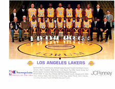 1995 LOS ANGELES LAKERS  TEAM  PHOTO  BASKETBALL MAGIC JOHNSON DIVAC
