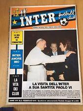 INTER FC  RIVISTA INTER FOOTBALL CLUB  ANNO XIV NUMERO 2 FEBBRAIO 1975