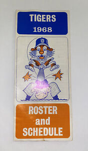 Vintage 1968 Detroit Tigers Player Roster/ Schedule