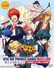 DVD Anime Uta no Prince-Sama Maji Love Season 1+2+3+4 ( Vol. 1-52 End )