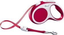 Laisses rouge Flexi en nylon pour chien