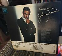 Johnny Mathis LP White Label Promo Romantically 1962 w Timing Strip W Sleeve