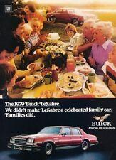 1979 Buick LeSabre Original Advertisement Print Art Car Ad J881