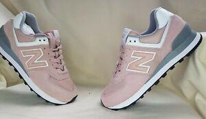 New Balance 574 Pink Womens Trainers - UK Size 4