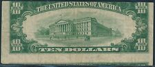 1950-A $10 1ST PRINT OUT OF ALIGNMENT TOP OF NOTE BELOW SHOWING ERROR BS8806