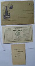 New Hampshire (3 Items) Log Cabin Gorham, Greetings Old Man Mountain, 1913 Derry