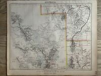 1889 LAKE EYRE, TORRENS, FROME AUSTRALIA ANTIQUE MAP BY LETTS, SON & Co.