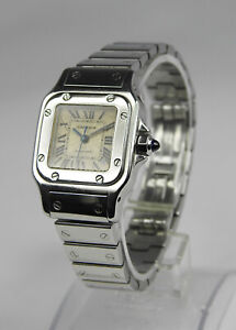 Cartier Santos Galbee Automatic Ladie's Watch 24mm Stainless Steel 2423