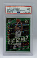 2019 Panini Mosaic Giannis Antetokounmpo Green Prizm Got Game? PSA 9 Mint