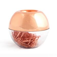 100 Paper Clips in Rose Gold Magnetic Clip Dispenser, Rose Gold Paper Clips G9G3