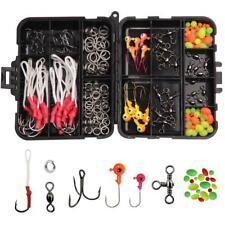 120Pcs Fishing Tackle Accessories Kit Jig Bait Assist Hooks Swivels Beads Rings