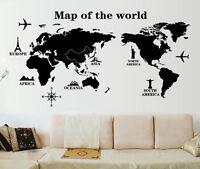 Mapa Del Mundo Extraíble Adhesivo Pared Pegatina Adhesiva Vinilo Grande Mural