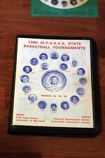 1980 M.P.S.S.A.A Maryland State Basketball Tournaments Program ex.