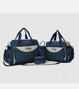 5pcs Baby Nappy Changing Bag Set Mummy Bags Capacity Shoulder Bag Handbag UK