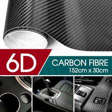 CARBON FIBER WRAP FIBRE CAR 6D GLOSS VINYL FILM 30CM X 1.52M AIR RELEASE CHANNEL