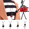 Fashion Women Crystal Doll Girl Pendant Long Chain Sweater Necklace Jewelry Gift