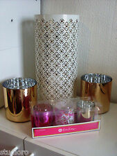 Lilly Pulitzer for TARGET 6pc CANDLE LOT hurricane GOLD SET votives LILY in hand