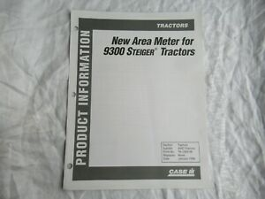 Case CASEIH 9300 Steiger tractor product information area meter report brochure