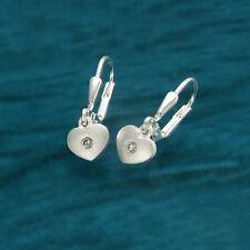 Kinder Ohrringe Herz Sterling Silber 925