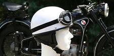 Oldtimer Helm + Brille (L 59/60) Halbschale für SR1 SR2 S51 KR50 AWO EMW Vespa