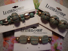 3 Diff 3 In GOLD SPARKLE TURQUOISE COLOR Hair Clip Barrette New in Butterfly Bag
