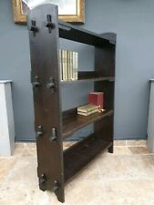 Antique Edwardian oak bookcase / bookshelf / storage unit