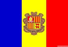 "ANDORRA mini flag 9"" x 6"" 22cm x 15cm flags"