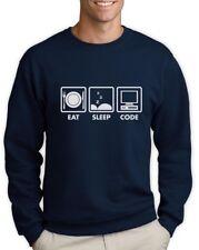 Eat Sleep Code - Funny Programmer Coder Sweatshirt Coding Geek Gift Idea