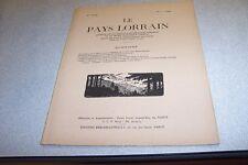 LE PAYS LORRAIN 1959 N° 2 Historique de la navigation Moselle CHARLES DE VAULX