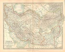 1911 LARGE VICTORIAN MAP ~ PERSIA & AFGHANISTAN ~ LARISTAN KERMAN KHORASAN etc