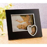 4x6 Photo Frame with Heart, Black