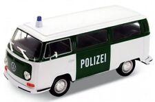 BLITZ VERSAND VW Bus T2 1972 Polizei weiss Welly Modell Auto 1:34 NEU & OVP