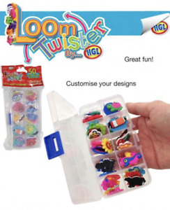 50x Loom Twister Charms Colourful Rubber Pendant Bands DIY Craft CHOOSE YOUR OWN