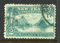 NEW ZEALAND....  1898  2/- milford, perf 11   used