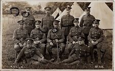 WW1 Soldier Officer Group ASC Army Service Corps in tented camp