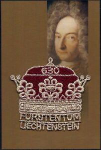 """2019 """"Liechtenstein"""" 300 Years Anniversary Scarce Embroidered VFMNH Stamp, LOOK!"""