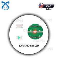 100Pcs 1206 3216 SMD SMT LED Chip Bright Red Light Lamp Emitting Diodes Beads