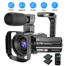 Video Camera Camcorder 2.7K Ultra HD YouTube Vlogging Camera 36MP IR Night 16X 3
