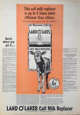 1967 AD.(XD4)~LAND O' LAKES CREAMERIES, MINNEAPOLIS, MINN. CALF MILK REPLACER