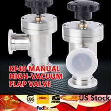 1Pcs KF40 Flange Manual Angle Valve Vacuum Pump Flange Fitting Stainless 40mm