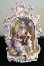 Hand Painted Japanese Bisque Figurine Woman with Mandolin