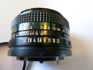 Canon FD 50mm f1.8 Standard Prime Lens In Excellent Condition.
