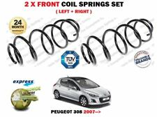 FOR PEUGEOT 308 1.4 1.6 16V HATCH + ESTATE 2007-> NEW 2X FRONT COIL SPRINGS SET
